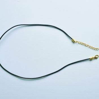 Collar de oro con gancho de goma