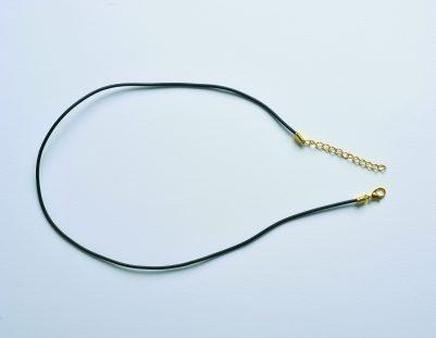 Rubber hook gold collar