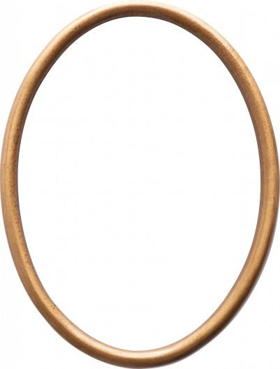 Marco de bronce ovalado