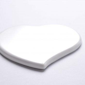 Detalle de corazón plano en punta