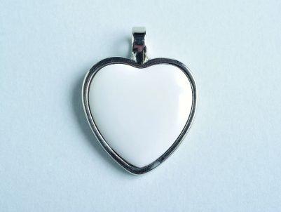 Precioso Corazón de Plata