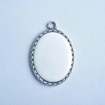 Precious Ovale Argento Bifacciale
