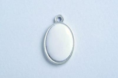 Precious Oval Satin Silver