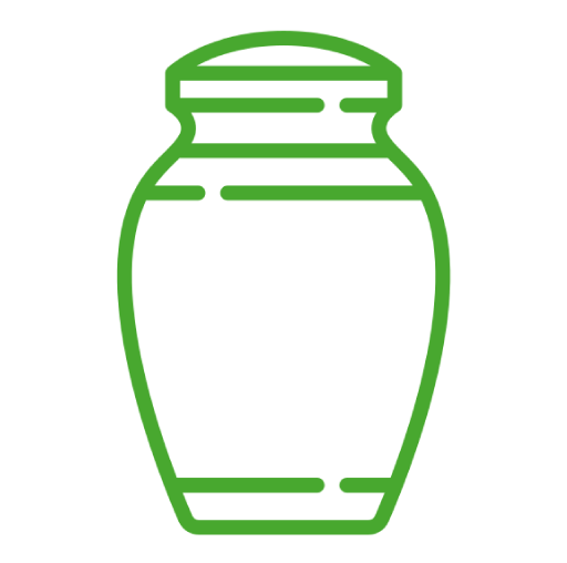 icono de urna funeraria